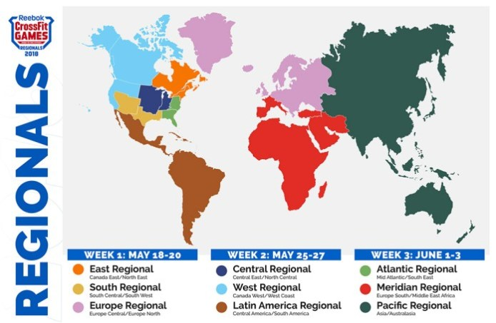 2018crossfitregionalmap